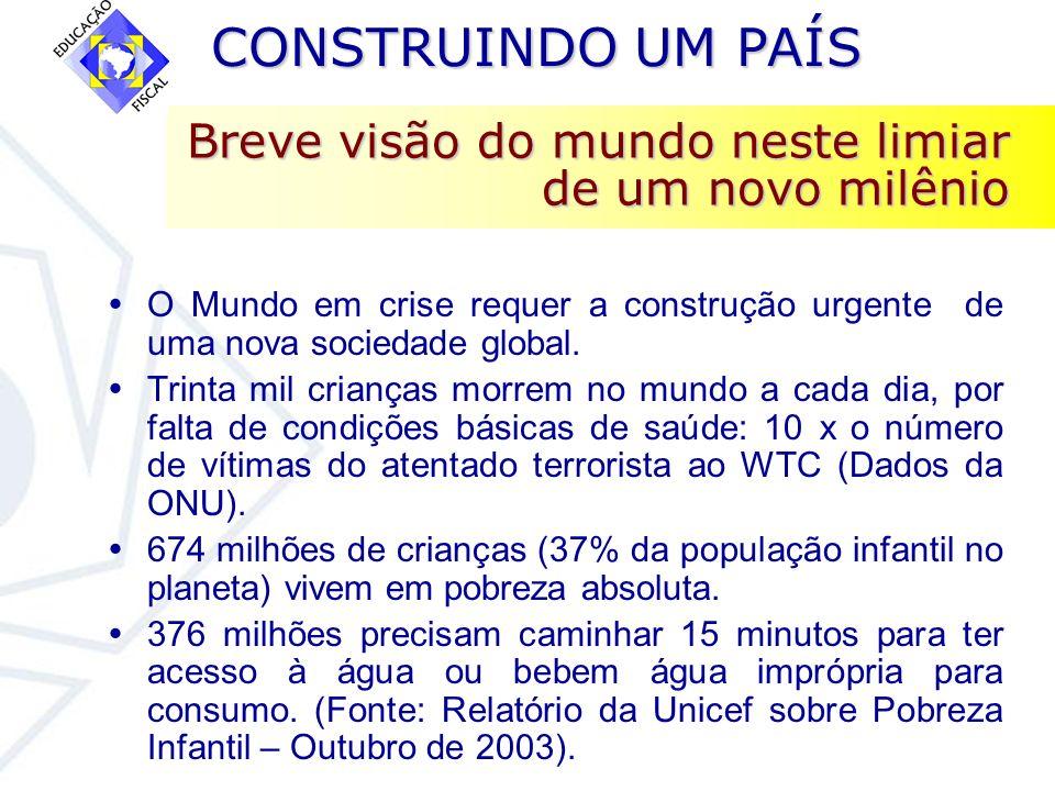 CONSTRUINDO UM PAÍS CONSTRUINDO UM PAÍS A CONCENTRAÇÃO DE RENDA CONTINUA AUMENTANDO O Plano das Nações Unidas para o Desenvolvimento –PNUD- divulgou em out/2003 a pesquisa contendo os dados do IDH do Brasil na última década e demonstrou que renda se concentrou ainda mais em 2/3 dos municípios brasileiros no período 91/2000 (3.654 localidades).