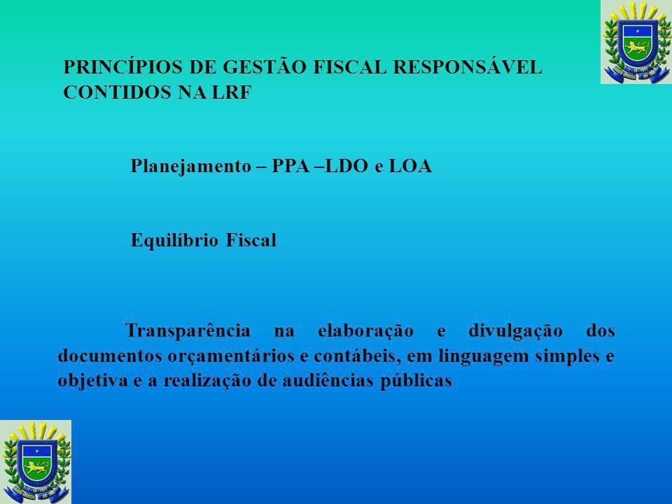 Da Transparência Trata da Transparência, Controle e Fiscalização, dispondo que será dada ampla divulgação, inclusive em meios eletrônicos de acesso ao público, aos planos, orçamentos e Leis de Diretrizes Orçamentárias; as prestação de contas e o respectivo parecer prévio; o Relatório Resumido de Execução Orçamentária e o Relatório de Gestão Fiscal e as versões simplificadas desses documentos, e também, incentivo à participação popular e realização de audiências públicas, durante os processos de elaboração e de discussão dos planos, Lei de Diretrizes Orçamentárias e Orçamentos.