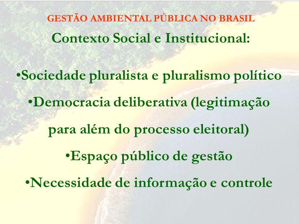 Gestão Ambiental: É a realização da missão da República no espaço público de gestão, por meio de atividades normativas, administrativas e jurisdiciona