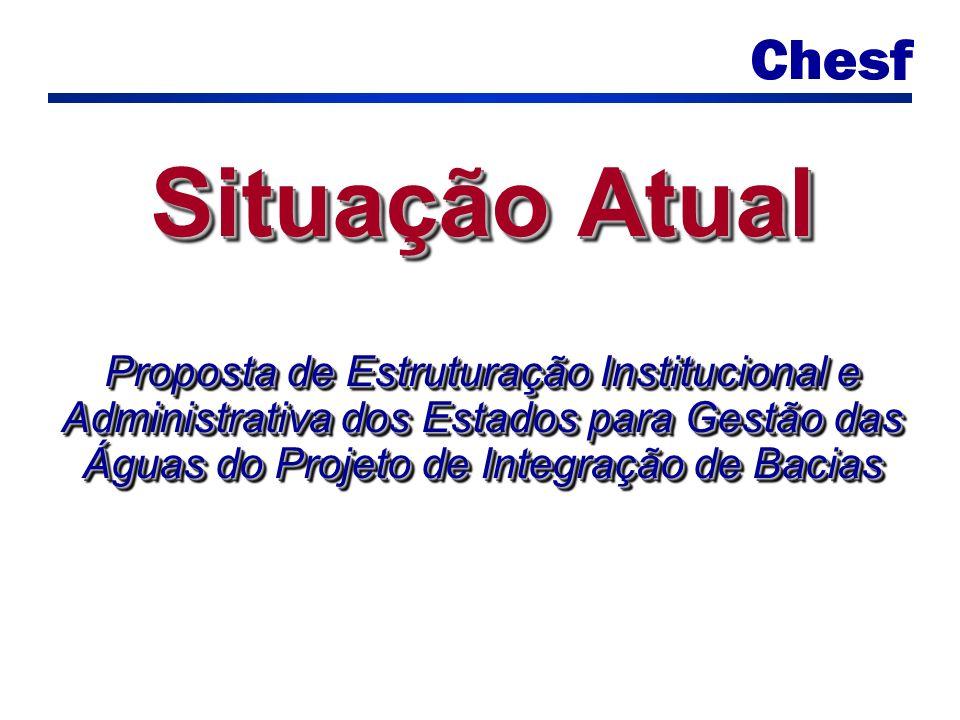 Situação Atual Proposta de Estruturação Institucional e Administrativa dos Estados para Gestão das Águas do Projeto de Integração de Bacias