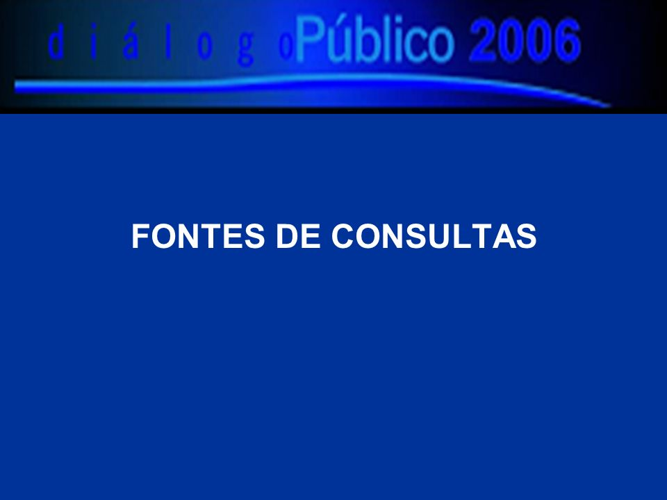 FONTES DE CONSULTAS