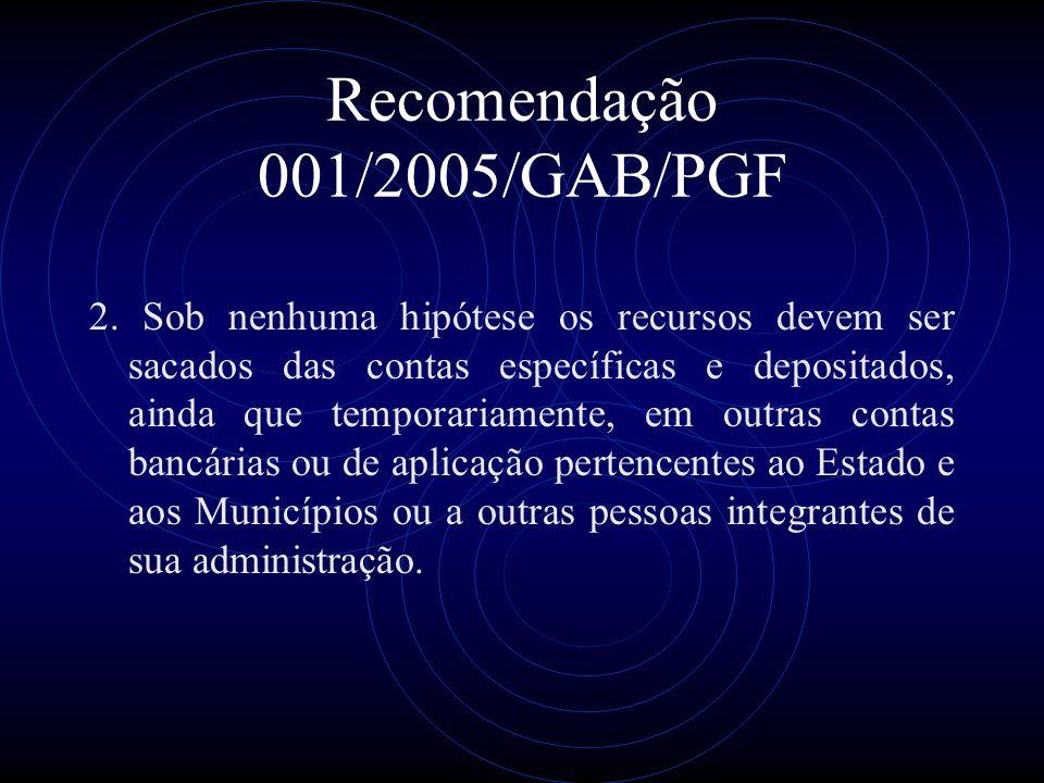 Recomendação 001/2005/GAB/PGF 2.