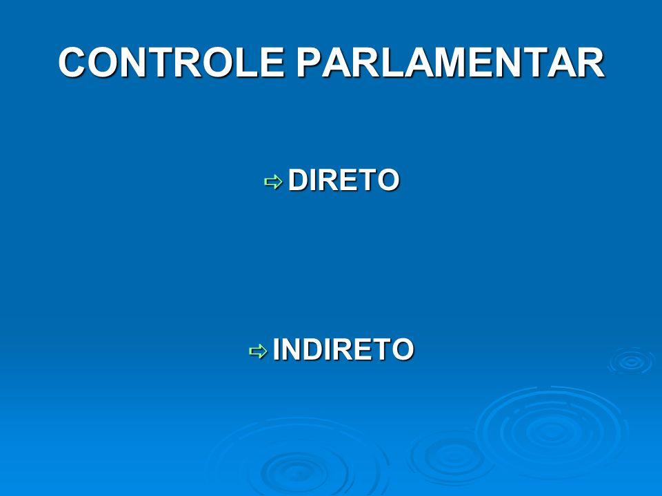 CONTROLE PARLAMENTAR INDIRETO TRIBUNAL DE CONTAS TRIBUNAL DE CONTAS COMPETÊNCIAS DE MERO AUXÍLIO COMPETÊNCIAS DE MERO AUXÍLIO COMPETÊNCIAS EXCLUSIVAS COMPETÊNCIAS EXCLUSIVAS