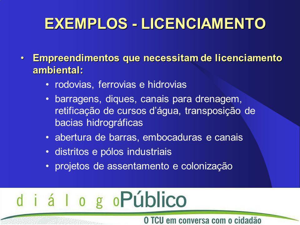 Empreendimentos que necessitam de licenciamento ambiental:Empreendimentos que necessitam de licenciamento ambiental: rodovias, ferrovias e hidrovias b