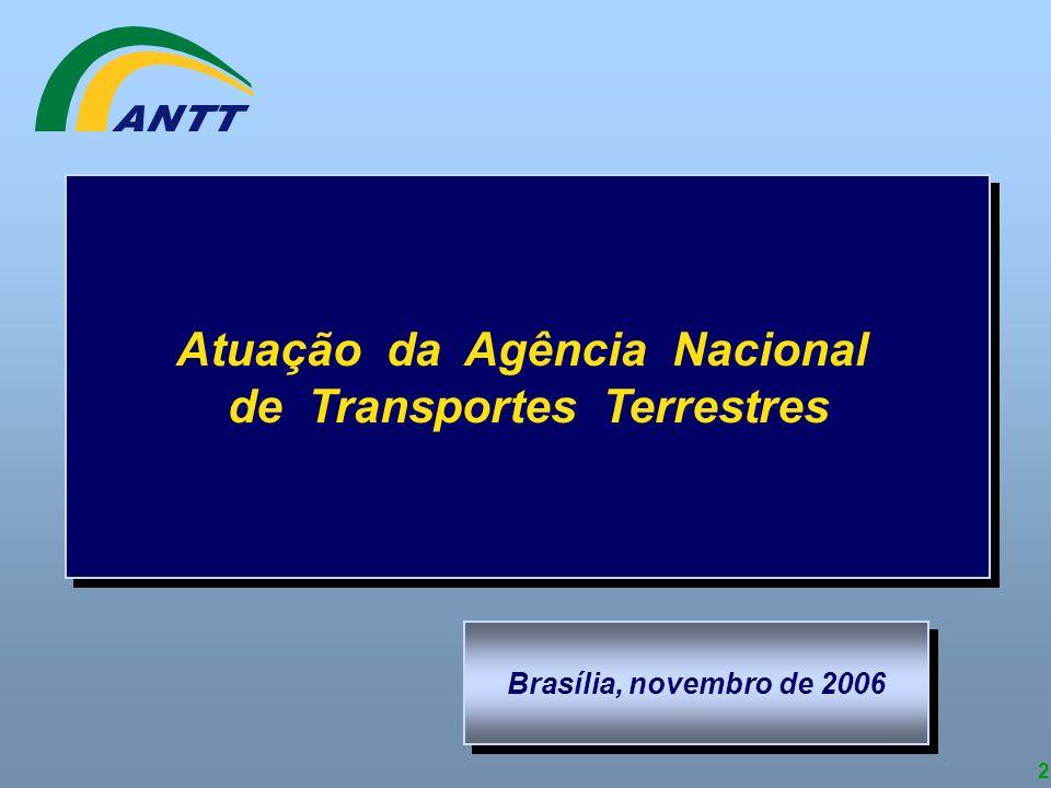 2 Atuação da Agência Nacional de Transportes Terrestres Atuação da Agência Nacional de Transportes Terrestres Brasília, novembro de 2006