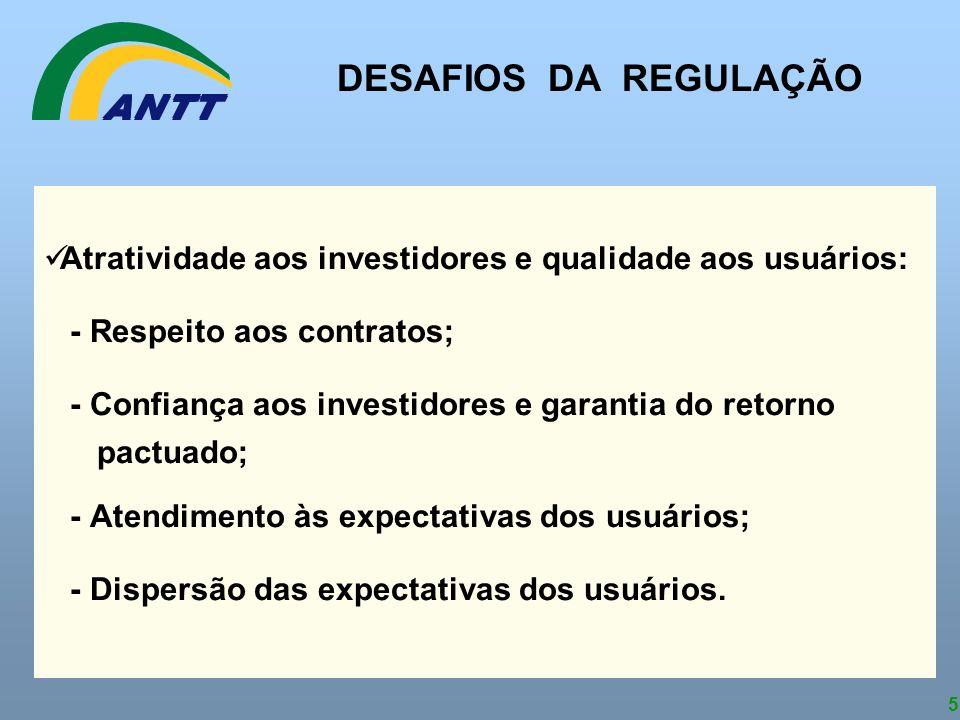 5 Atratividade aos investidores e qualidade aos usuários: - Respeito aos contratos; - Confiança aos investidores e garantia do retorno pactuado; - Ate