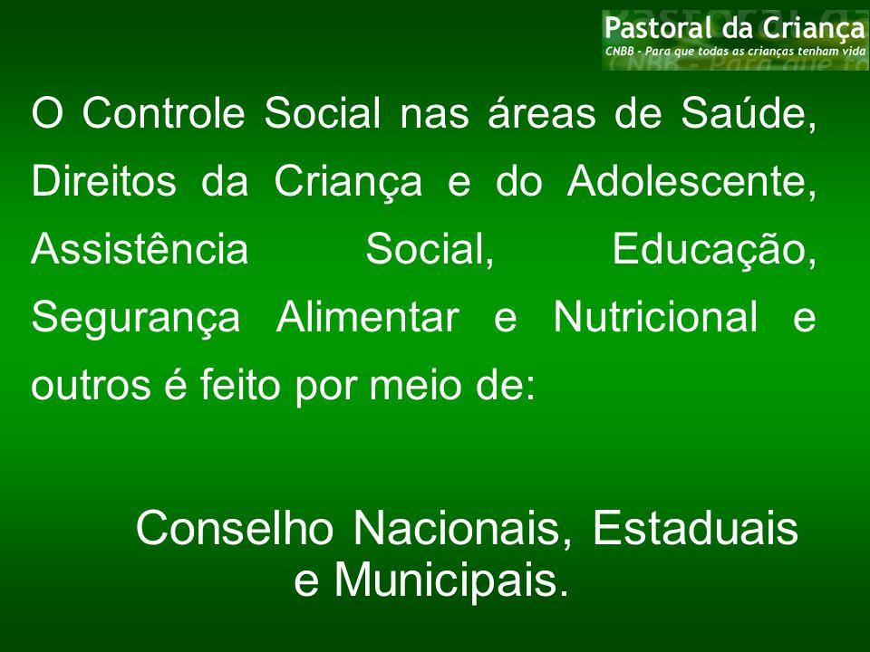 Reuniões Macrorregionais, Plenárias de Conselhos Plenárias de Conselheiros Conferências Nacionais, Estaduais e Municipais