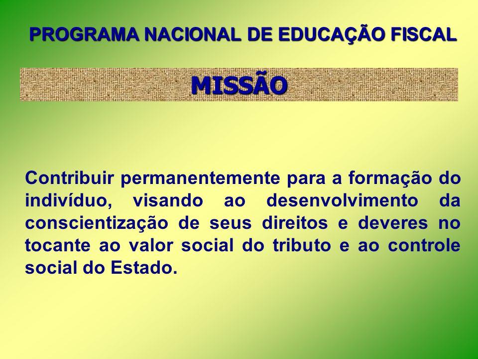 PROGRAMA NACIONAL DE EDUCAÇÃO FISCAL Um Convite à Cidadania