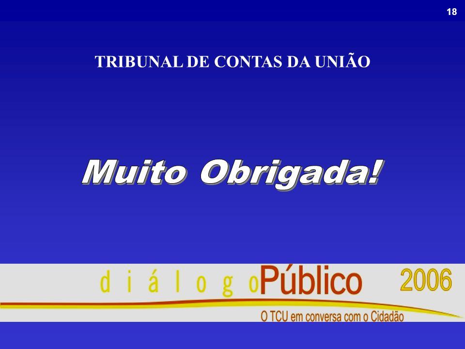 18 TRIBUNAL DE CONTAS DA UNIÃO