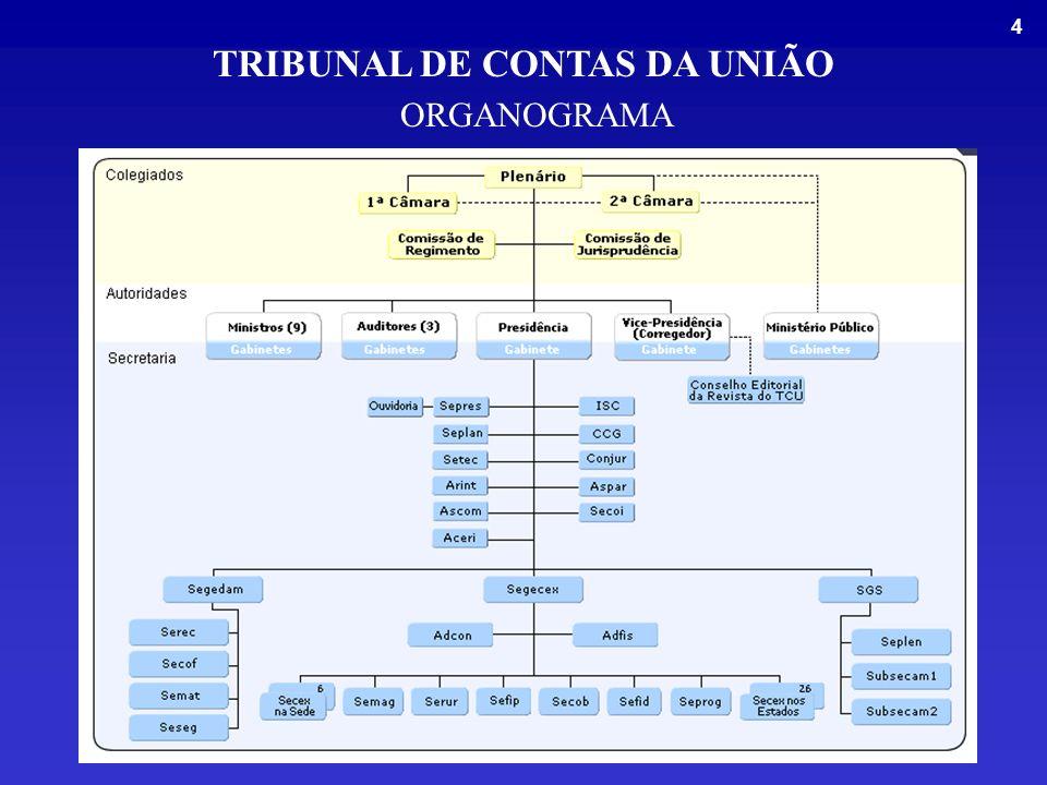 15 OUVIDORIA Central de Atendimento 0800 6441500 E-mail: ouvidoria@tcu.gov.br TRIBUNAL DE CONTAS DA UNIÃO