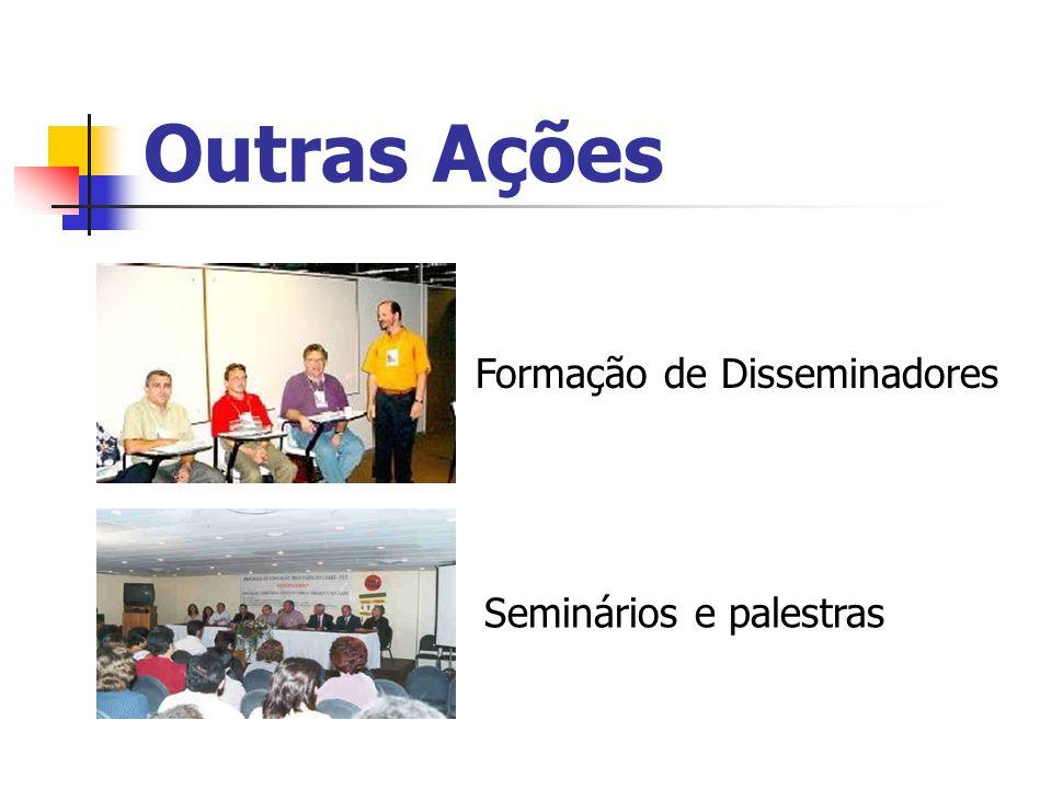 Outras Ações Formação de Disseminadores Seminários e palestras