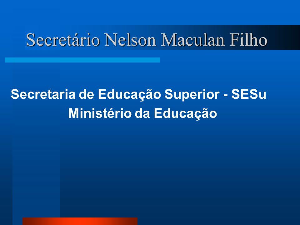 Secretário Nelson Maculan Filho Secretaria de Educação Superior - SESu Ministério da Educação