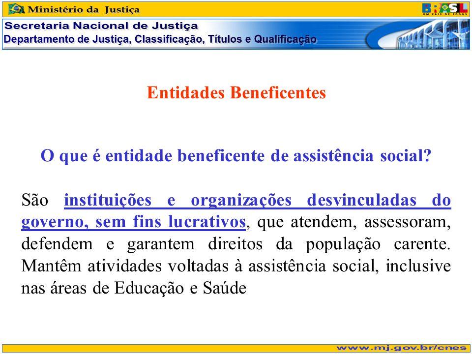 Entidades Beneficentes O que é entidade beneficente de assistência social? São instituições e organizações desvinculadas do governo, sem fins lucrativ