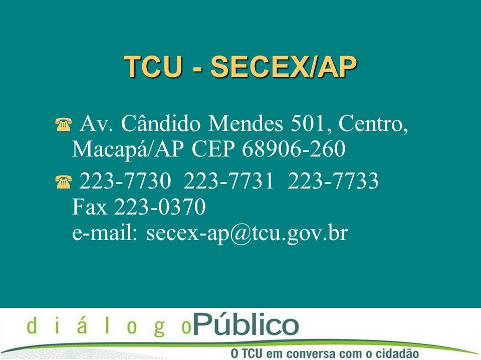 TCU - SECEX/AP Av.