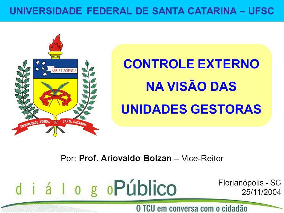 UNIVERSIDADE FEDERAL DE SANTA CATARINA – UFSC 1 Por: Prof.