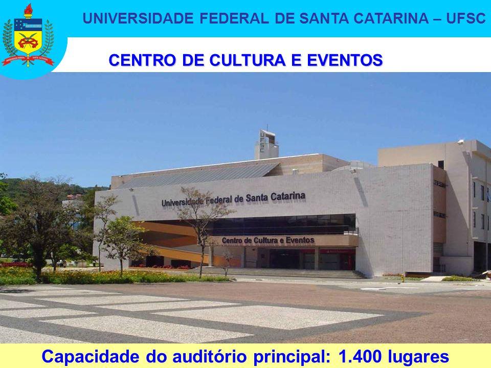 UNIVERSIDADE FEDERAL DE SANTA CATARINA – UFSC 27 CENTRO DE CULTURA E EVENTOS Capacidade do auditório principal: 1.400 lugares