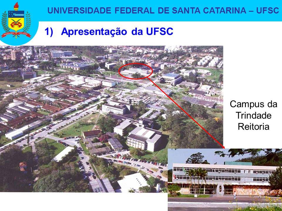 UNIVERSIDADE FEDERAL DE SANTA CATARINA – UFSC 3 1)Apresentação da UFSC Campus da Trindade Reitoria