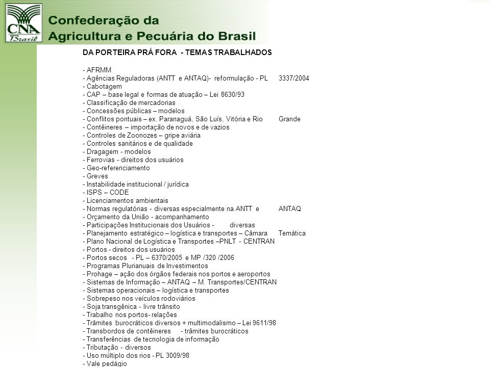 CAPACIDADE CONCORRÊNCIAL VANTAGENS: - NATUREZA + TECNOLOGIA + BRASILEIROS OBSTÁCULOS: - INSTABILIDADE INSTITUCIONAL - FALTA DE INFRA-ESTRUTURA - GESTÃ