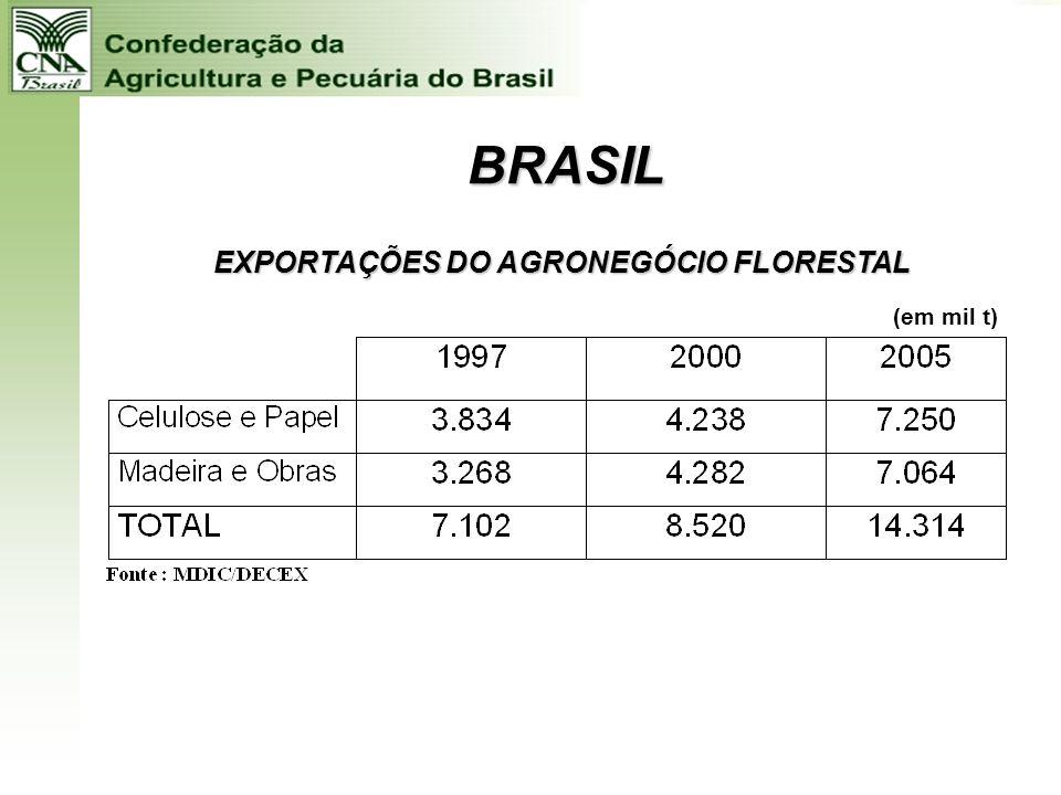 Fonte:Boletim 66/2006 – da CNA – Confederação da Agricultura e Pecuária do Brasil Valor Bruto da Produção Agropecuária 2005 em R$ milhões