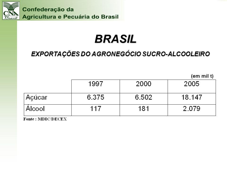 BRASIL EXPORTAÇÕES DO AGRONEGÓCIO FLORESTAL (em mil t)