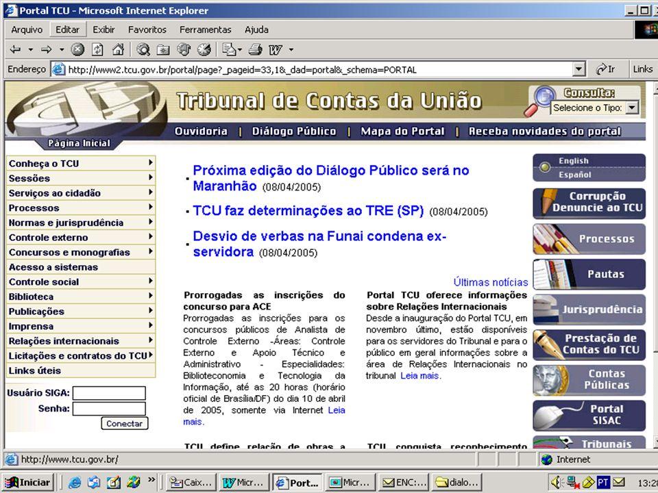 Publicação e Divulgação dos percentuais da CIDE èA Decisão Normativa-TCU 65, de 14/02/2005, alterada pela DN- TCU 66, de 29 de março de 2005, fixou os coeficientes para 2005, disponíveis em www.contaspublicas.gov.br.
