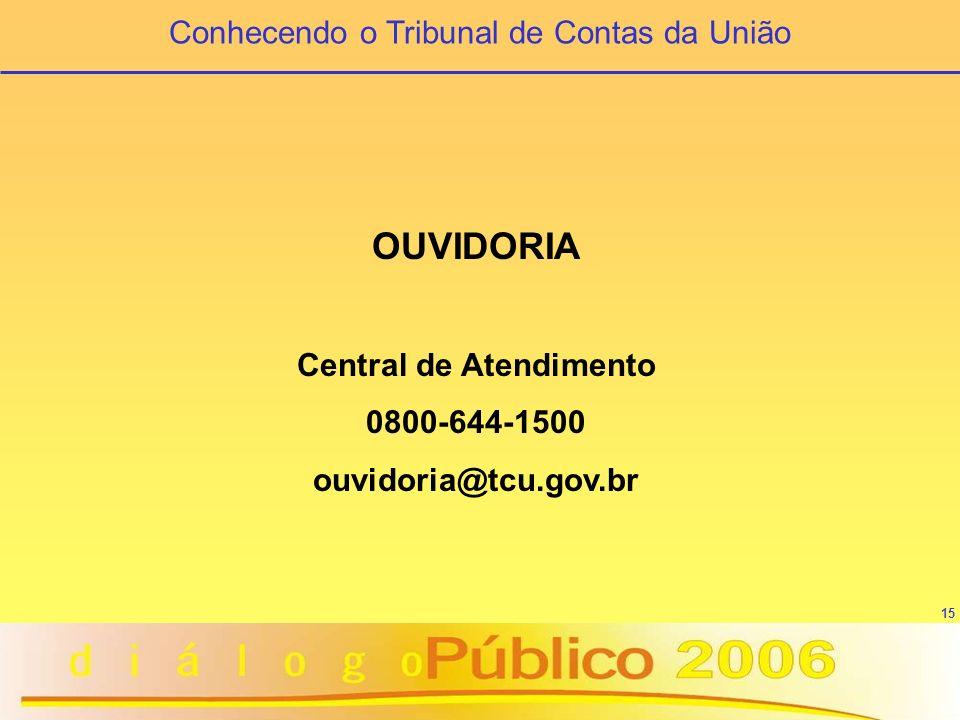 16 O TRIBUNAL NA INTERNET www.tcu.gov.br Onde encontrar o TCU
