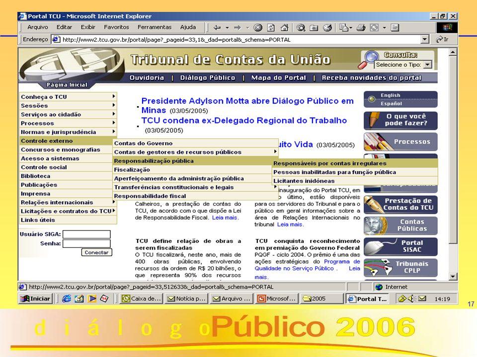 18 SECRETARIA DE CONTROLE EXTERNO NO ESTADO DA BAHIA - SECEX-BA Secretário: Edmur Baida Endereço: Avenida Tancredo Neves, nº 2242 - Stiep Telefone: 3341-1966 (PABX) e 3341-1955 (fax) e-mail: secex-ba@tcu.gov.br Onde encontrar o TCU