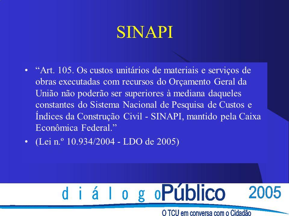 SINAPI Art. 105.