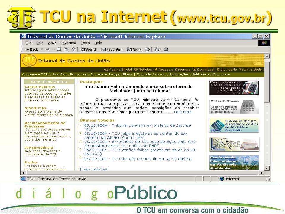 TCU na Internet ( www.tcu.gov.br )