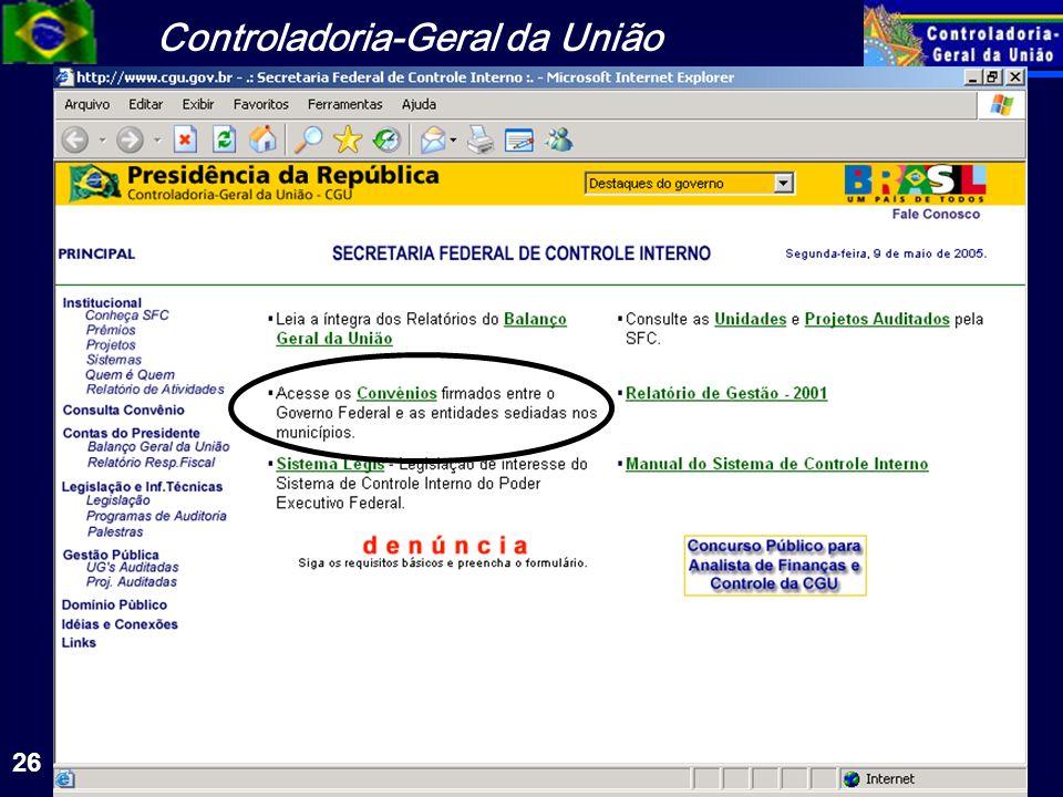 Controladoria-Geral da União 26