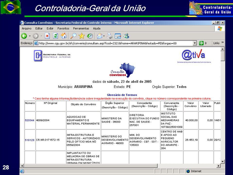 Controladoria-Geral da União 28