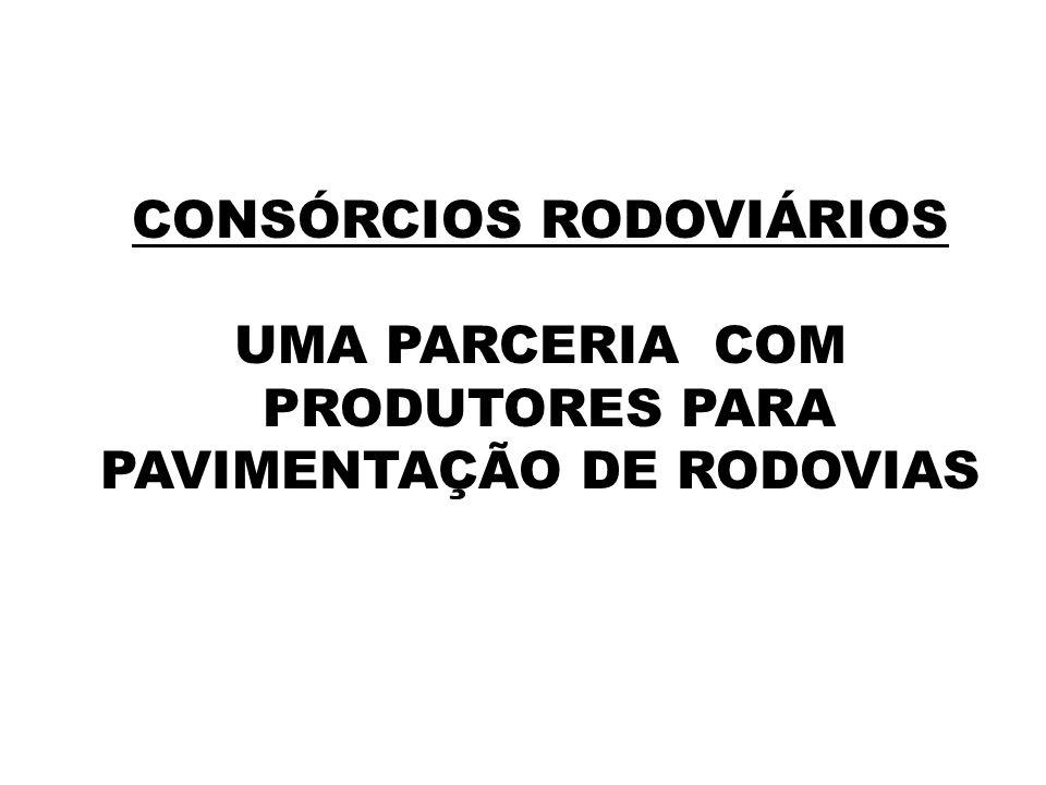 CONSÓRCIOS RODOVIÁRIOS UMA PARCERIA COM PRODUTORES PARA PAVIMENTAÇÃO DE RODOVIAS