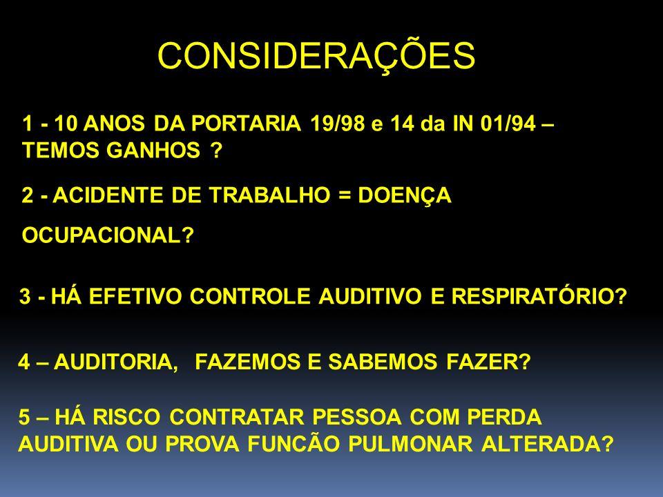 EPIs AUDITIVOS QUALIFICAÇÃO DO EPI