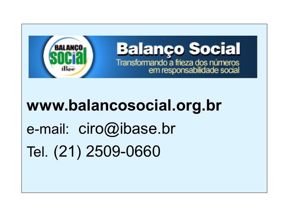 www.balancosocial.org.br e-mail: ciro@ibase.br Tel. (21) 2509-0660