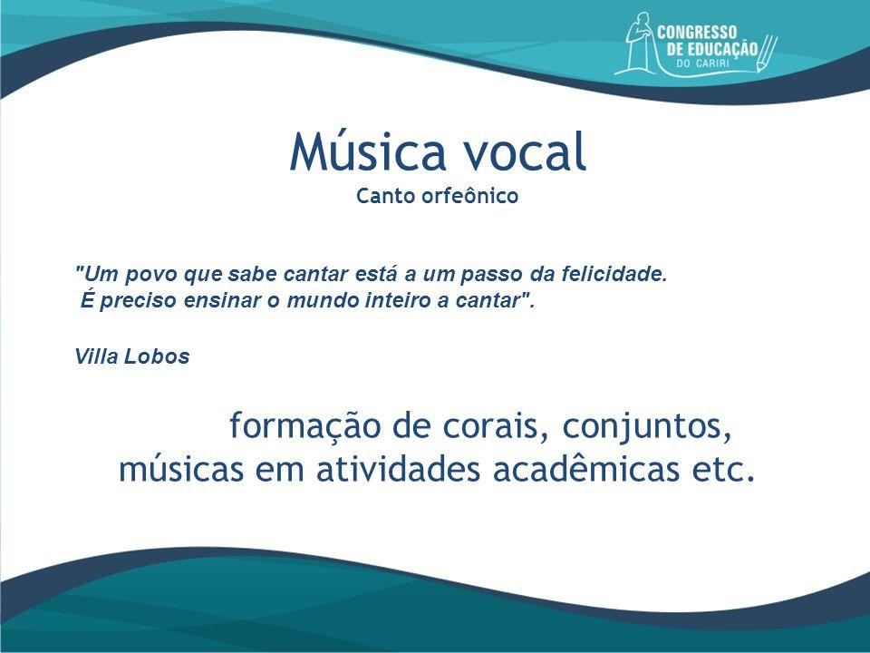 Música vocal Canto orfeônico