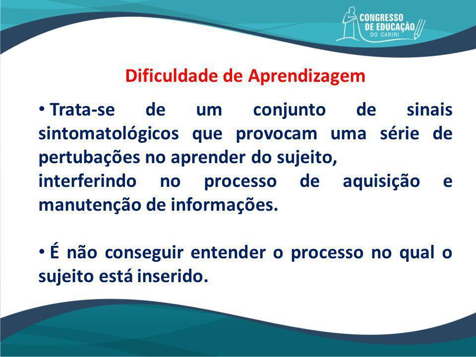 TRANSTORNO OU DISTÚRBIO DE APRENDIZAGEM DIS + TURBARE = ALTERAÇÃO VIOLENTA DA ORDEM NATURAL DA APRENDIZAGEM.