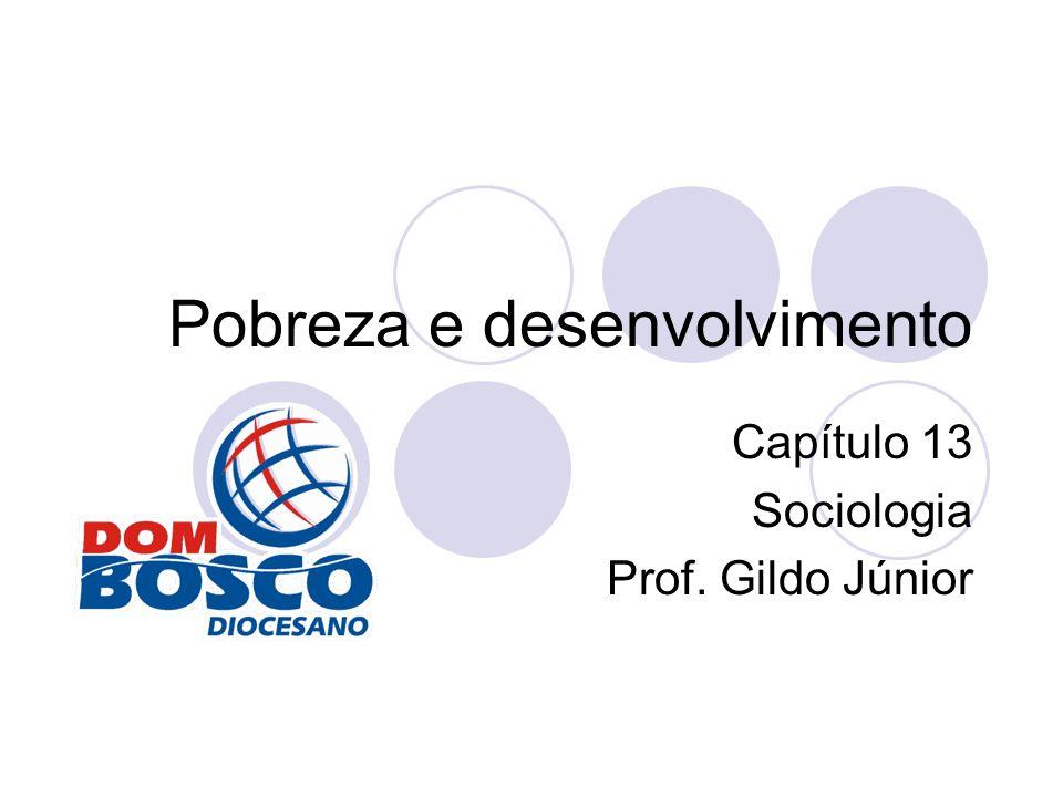Pobreza e desenvolvimento Capítulo 13 Sociologia Prof. Gildo Júnior