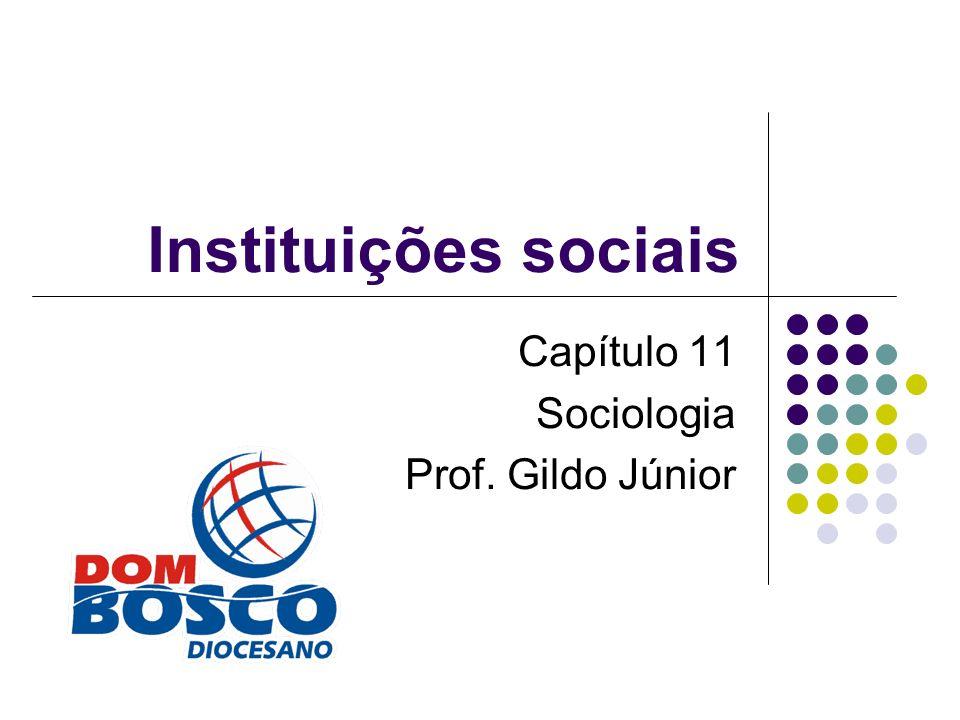 Instituições sociais Capítulo 11 Sociologia Prof. Gildo Júnior