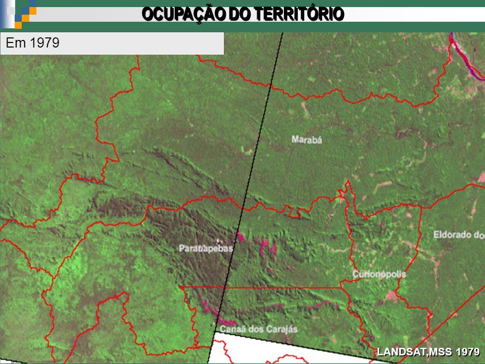 LANDSAT,MSS 1979 OCUPAÇÃO DO TERRITÓRIO Em 1979