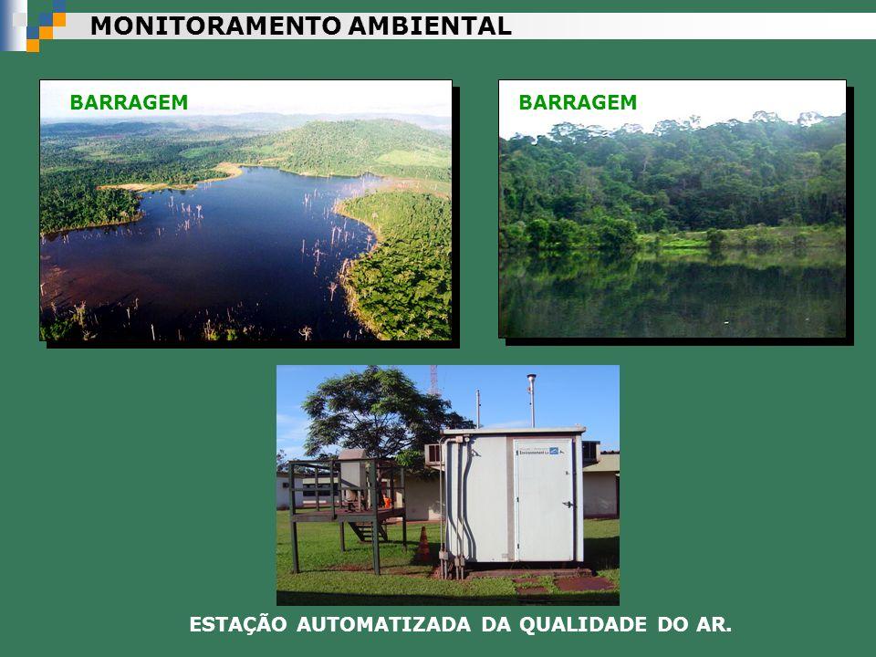 MONITORAMENTO AMBIENTAL BARRAGEM ESTAÇÃO AUTOMATIZADA DA QUALIDADE DO AR.