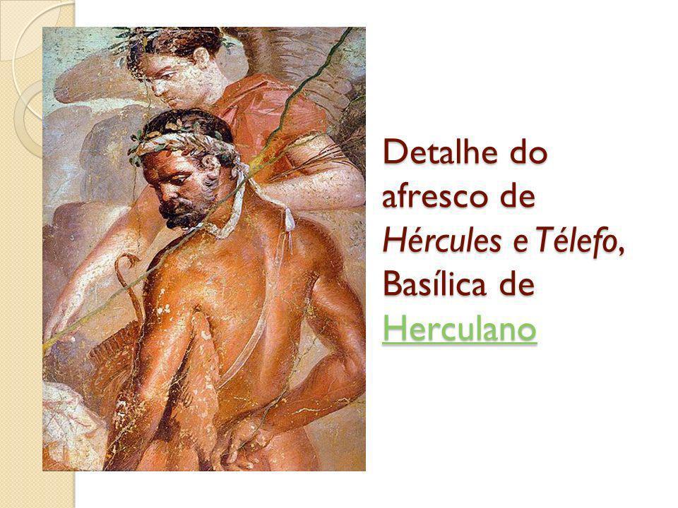 Detalhe do afresco de Hércules e Télefo, Basílica de Herculano Herculano