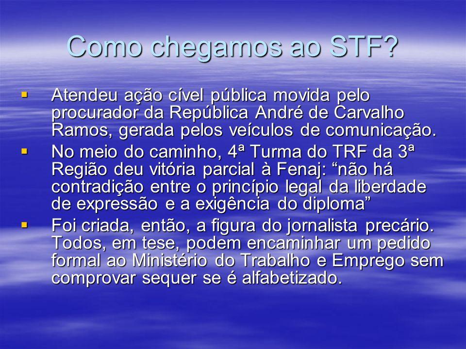 Como chegamos ao STF? Atendeu ação cível pública movida pelo procurador da República André de Carvalho Ramos, gerada pelos veículos de comunicação. At