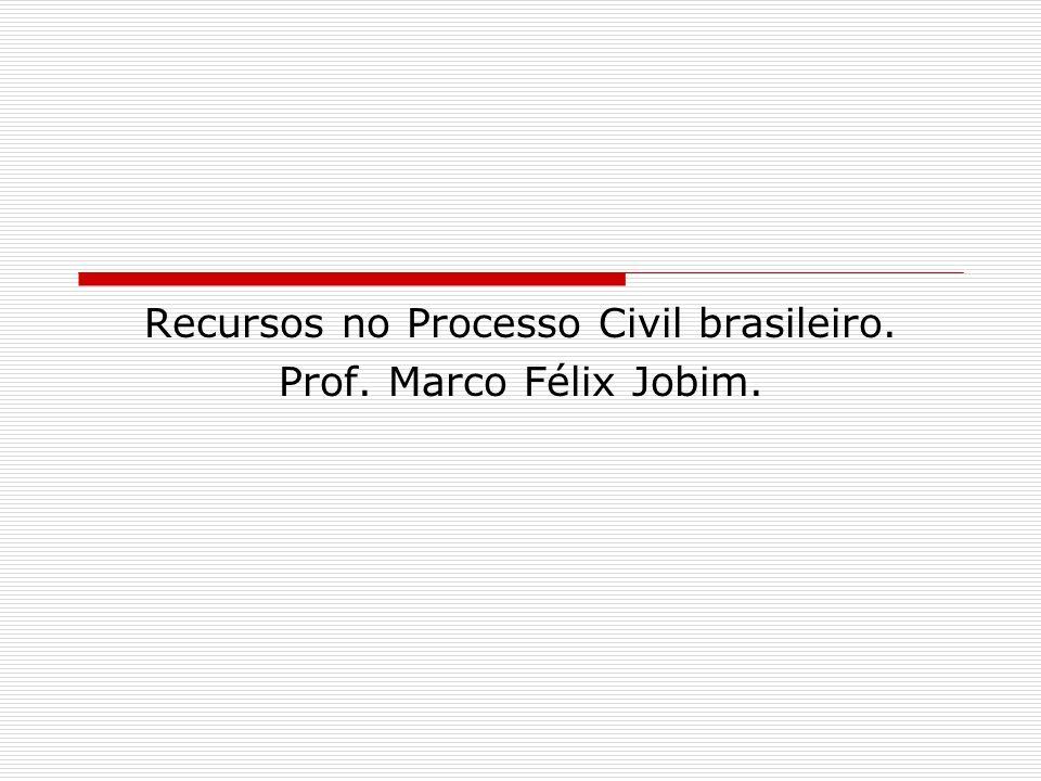 Recursos no Processo Civil brasileiro. Prof. Marco Félix Jobim.