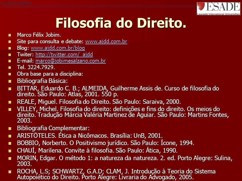 Private & Confidential Filosofia do Direito. Marco Félix Jobim. Marco Félix Jobim. Site para consulta e debate: www.ajdd.com.br Site para consulta e d