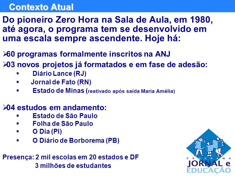 Do pioneiro Zero Hora na Sala de Aula, em 1980, até agora, o programa tem se desenvolvido em uma escala sempre ascendente.
