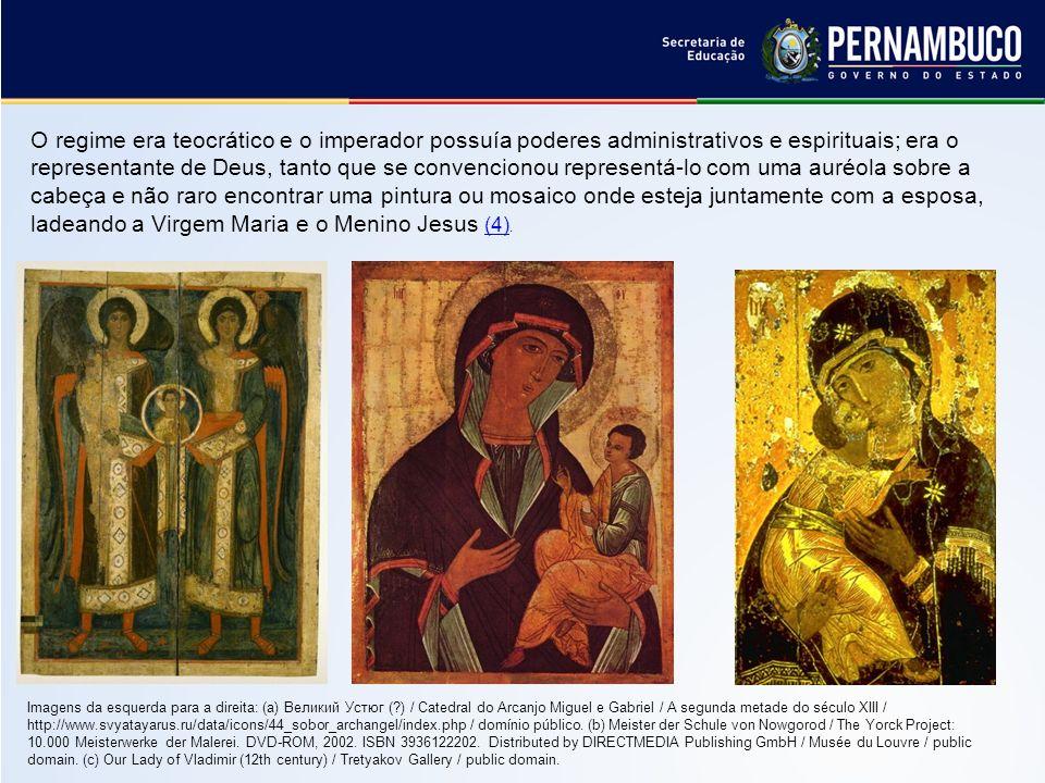 O mosaico é expressão máxima da arte bizantina e não se destinava apenas a enfeitar as paredes e abóbadas, mas instruir os fiéis, mostrando-lhes cenas da vida de Cristo, dos profetas e dos vários imperadores (5).