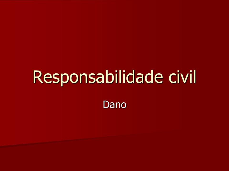 Responsabilidade civil Dano