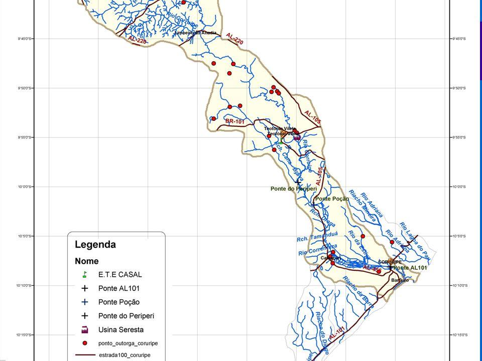 A bacia hidrográfica do Rio Coruripe