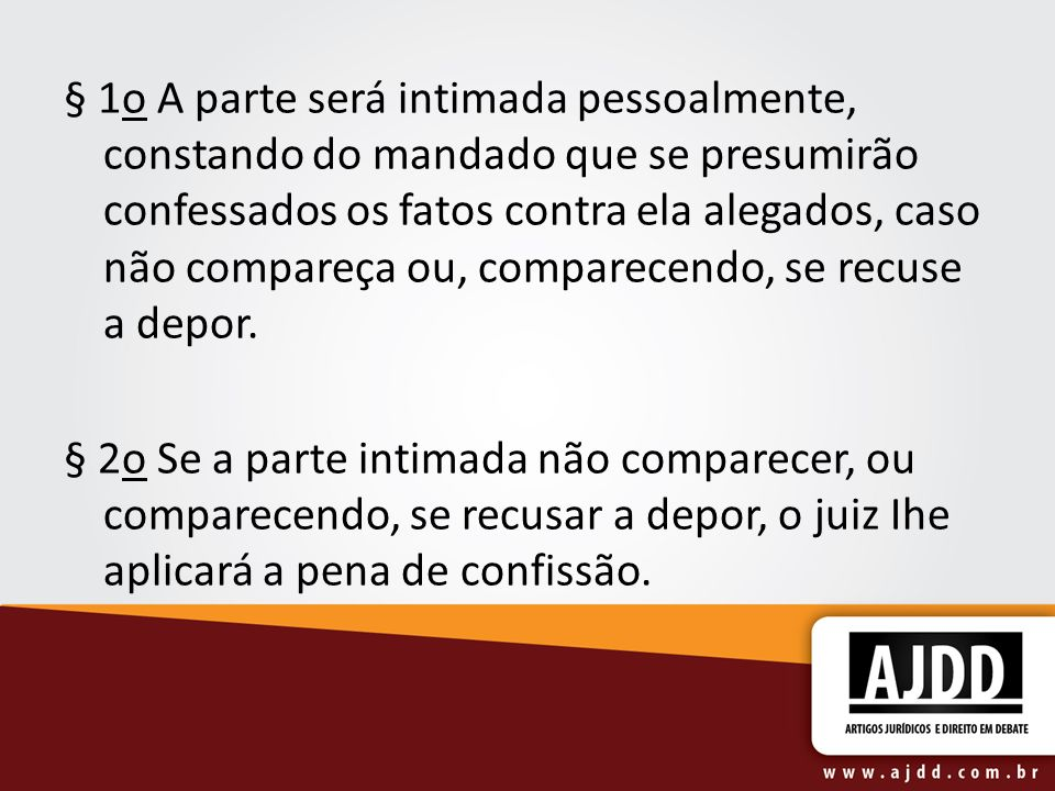 Art.349. A confissão judicial pode ser espontânea ou provocada.