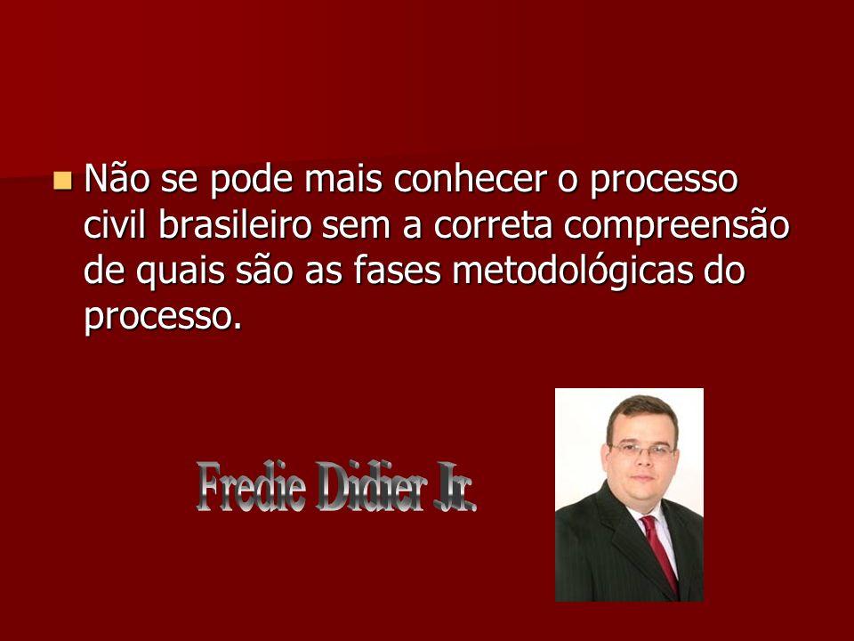 Não se pode mais conhecer o processo civil brasileiro sem a correta compreensão de quais são as fases metodológicas do processo. Não se pode mais conh